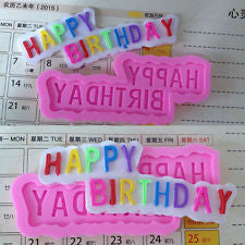 Silicone fondant Happy Birthday mould. Mould size 10x4cm
