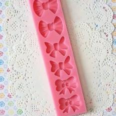 Silicone fondant bow mould-B