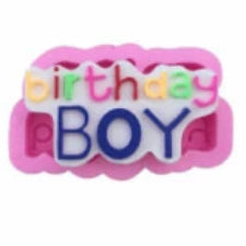 Birthday Boy silicone mould, for fondant, size of mould 10x6cm