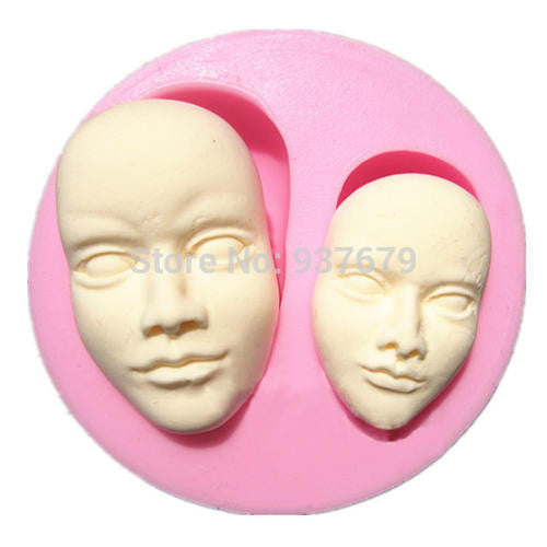 Silicone fondant mould Human Face. size of mould 7x6cm