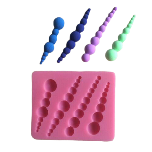 Silicone fondant mould pearl, size of moulds 6.5x6cm