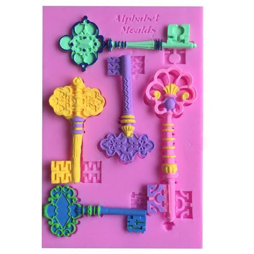 Silicone fondant mould Classical keys, size of mould 12.5x8cm
