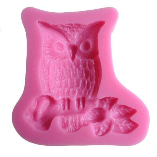 Owl Silicone fondant mould, size of mould 5x5cm,