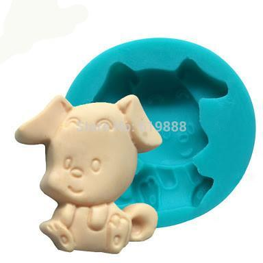 Doggie silicone mould, for fondant, size of mould 7cm