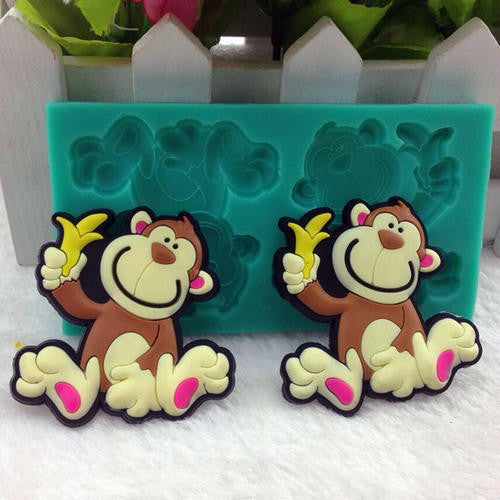 Monkey silicone mould, fondant, size of mould 10x5.5cm