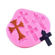 Cross silicone mould, for fondant, size of mould 9.5x9cm