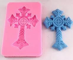 Cross silicone mould, for fondant, size 7.5x5.5