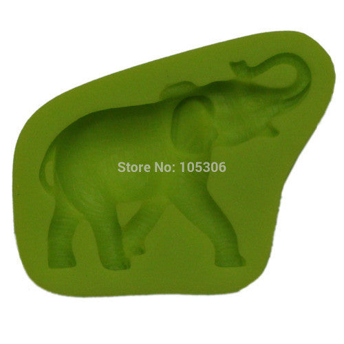 Elephant silicone mould, for fondant, size of mould 7.5x5.5cm