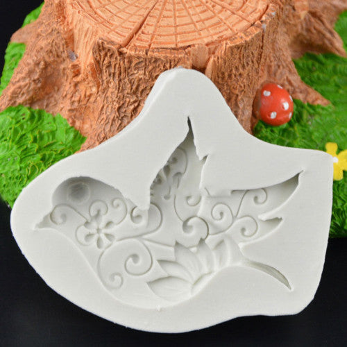 Bird silicone mould, for fondant, 5.5x4cm