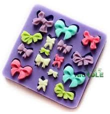 Bow silicone mould, for fondant, size of mould 7x7cm