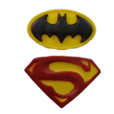 Batman 6x3.5cm superman 6.5x4.5cm logo silicone mould
