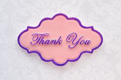 Thank You silicone fondant mould. 10x6cm