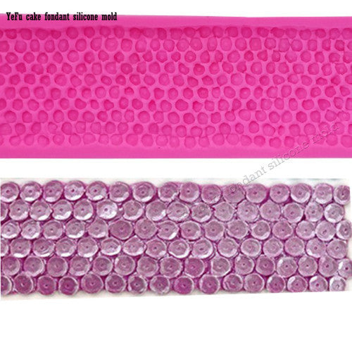 Sequin border Silicone fondant mould