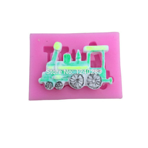 Train silicone fondant mould. 5x3cm