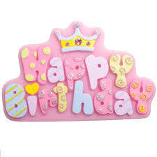 Happy Birthday Silicone fondant mould
