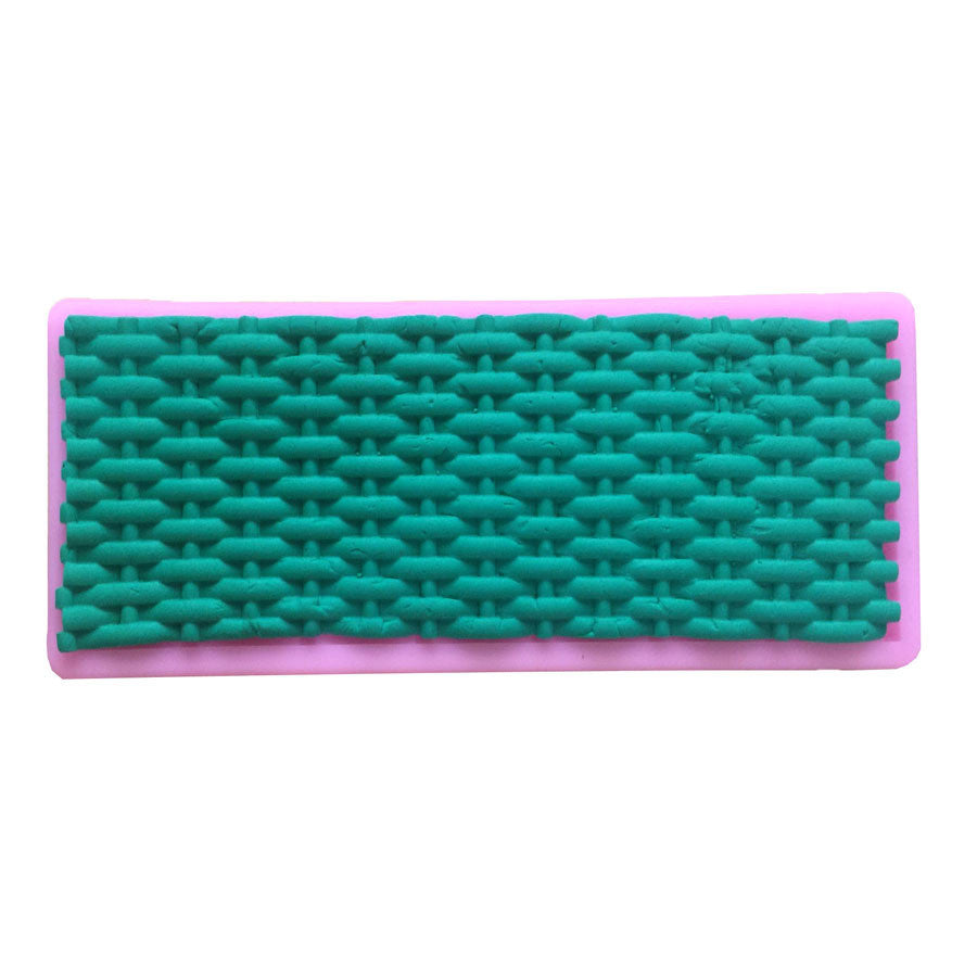 Basket Weave Silicone mould, 16.5x5.5cm