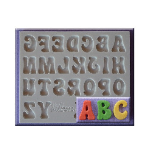 Alpha Silicone mould, size of letter 1.7x1.4cm