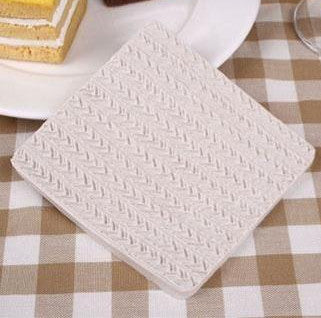 Crochet knitting impression mat D, 10x10.3cm
