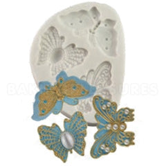 Butterfly silicone mould, left butterfly 3.5x3.2cm