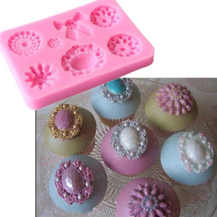 Brooches silicone mould