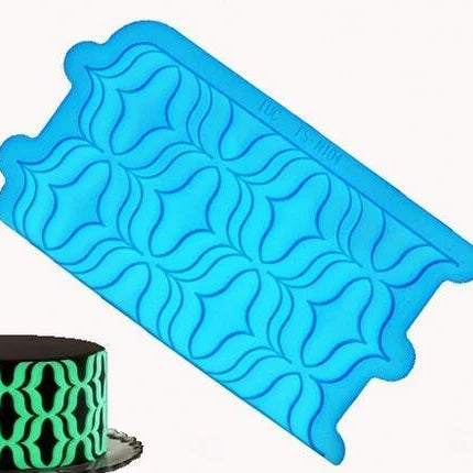 Silicone onlay mould, Optical illusion pattern
