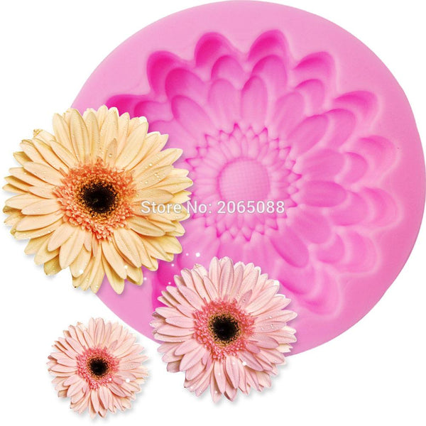 Chrysanthemum Daisy Flower silicone mould, 4.5cm