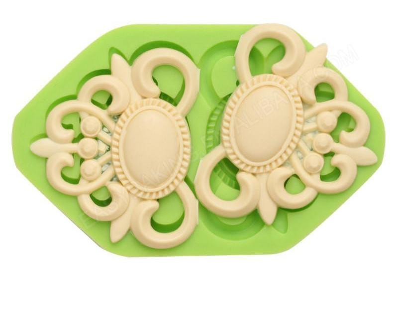 Retro Embellishment Jewels silicone mould, 5x6.3cm