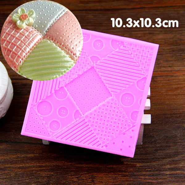 Patchwork silicone imprint mould, 9.2cm