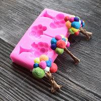 Balloon tree silicone mould, middle 4.7x3cm