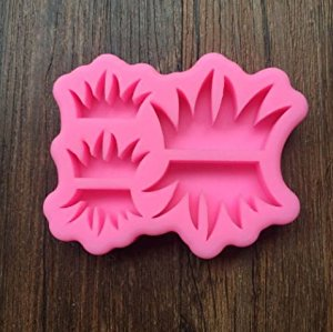 Grass silicone mould, 3.7x2.4cm, 2.3x1.4cm