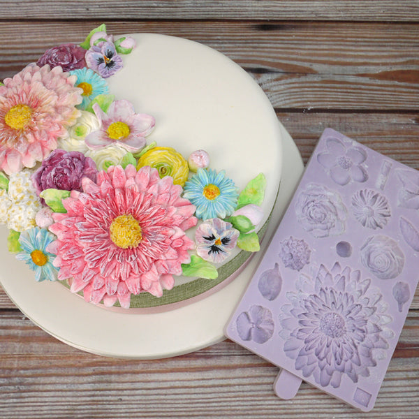 Large Daisy flowers silicone mould, daisy 8.7x8.5cm
