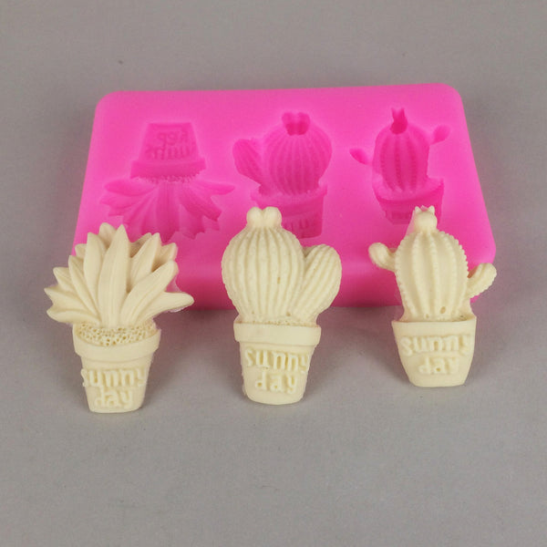 Cactus silicone mould, middle 2.3x3.7cm