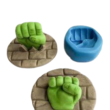 Hulk fist silicone mould, 3.3x3cm