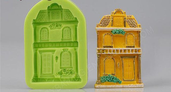 Fairy house cottage silicone mould, 7.5x4.7cm
