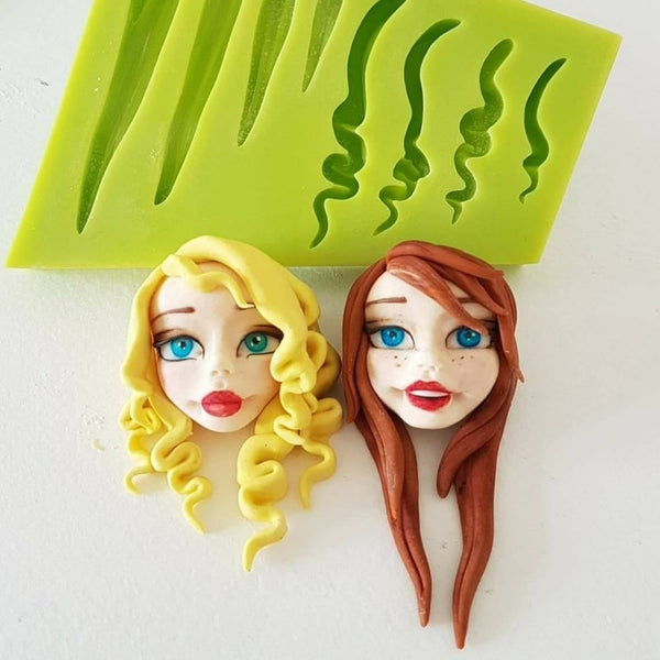 Figurine hair silicone mould