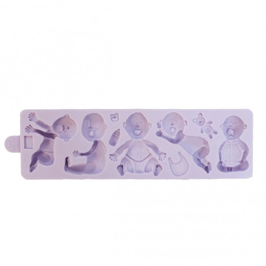 Babies silicone mould, middle baby 5.7cm