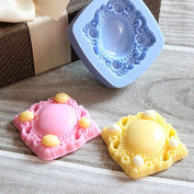 Brooch gem silicone mould, 4.5x4.5cm