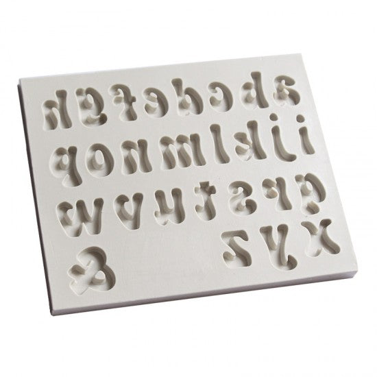 Alpha Silicone mould, size of letter 1.5x1.2cm, lower case