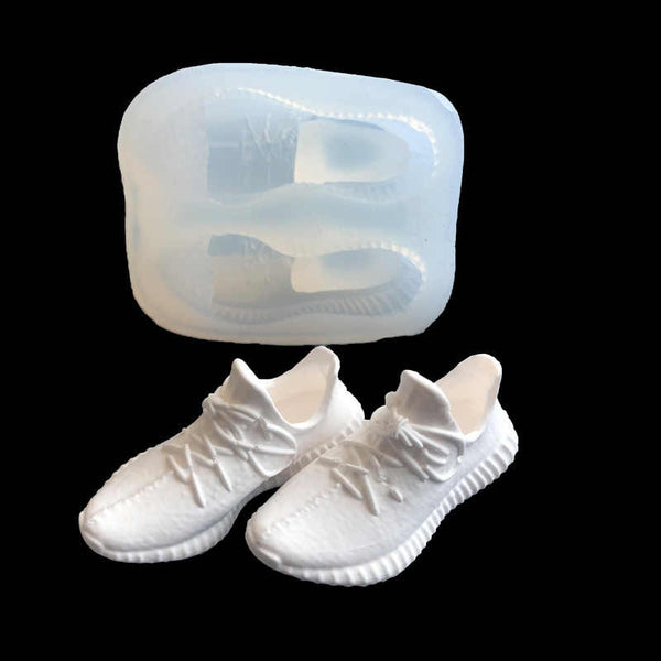 3D Gym shoes silicone mould, 5.6x2.4cm
