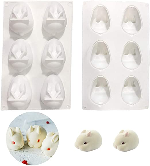 Bunny Silicone mould tray, mousse pudding, 8x5.5cm, 4.5cm deep