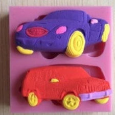 Classic cars fondant silicone mould, size of mould 7.5x6cm A