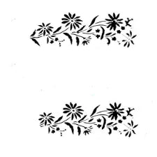 Cake decorating stencil, 25x10cm, SY1028-7