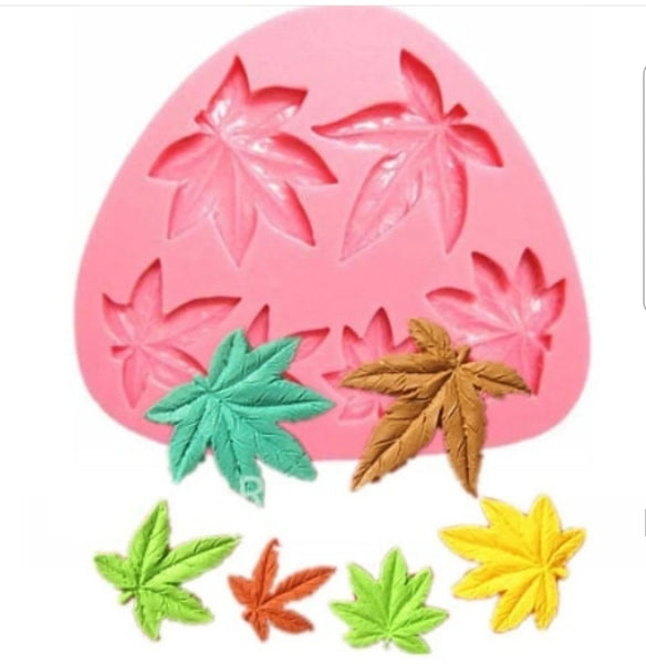 Cannabis leaves silicone mould, Brown leaf: 4x3.9cm