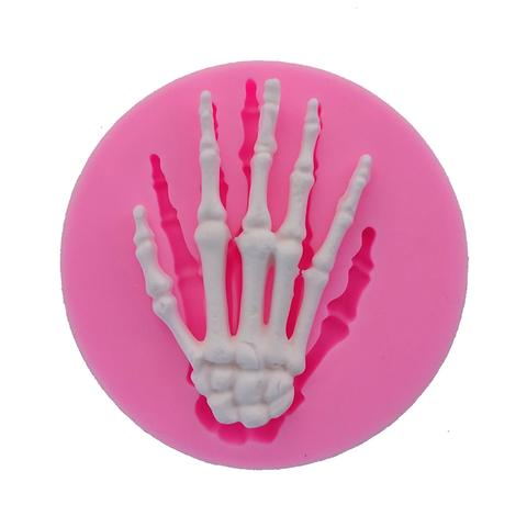 Skeleton hand silicone mould, 5x3cm