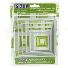 PME Large shape cutter set, Square