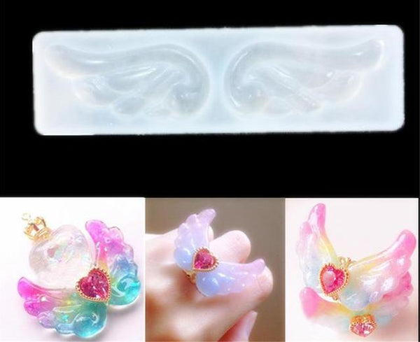 Angel wings silicone mould, 4x2cm