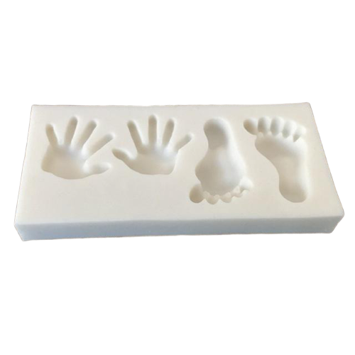 Baby hands and feet silicone mould, hand 1.5x1.8cm, foot 2.3x1.4cm