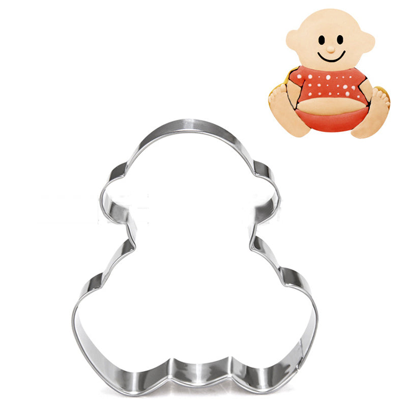 Baby cookie cutter metal, 8x7cm