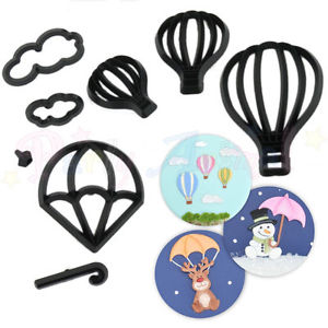 Hot air balloon theme silhouette cutter set