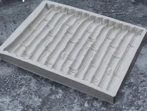 Bamboo silicone mould, 14x10.5cm